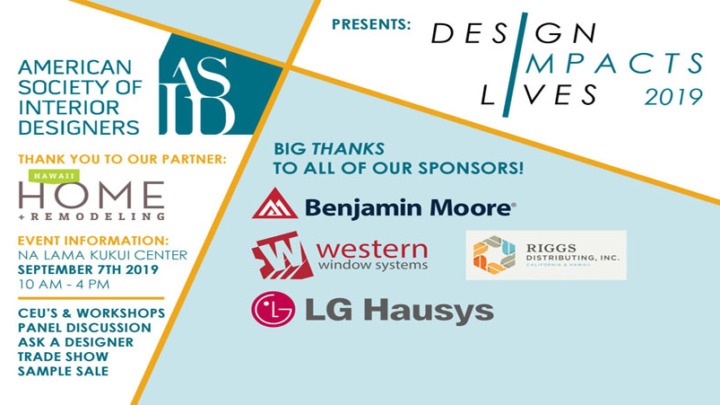 ASID Hawaii Invites Public to Attend Design Impacts Lives Event